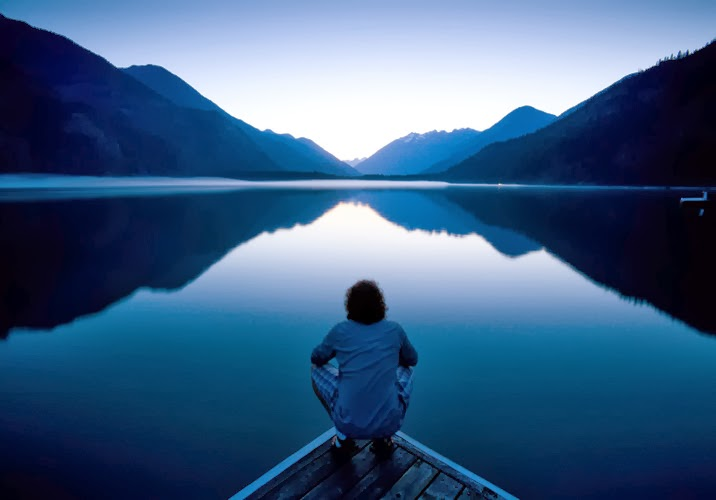 Inner peace calm mountain lake